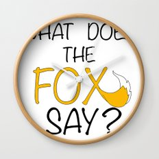 What Does The Fox Say  Wall Clock