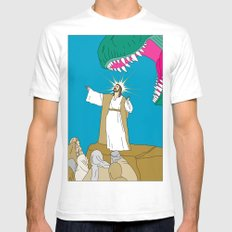 Jesus, Etc. Mens Fitted Tee White SMALL