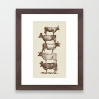 Cow Cow Nuts Framed Art Print