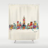 Indianapolis Indiana Sky… Shower Curtain