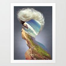 Haircut 3 Art Print