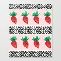 Abstract Strawberry Party Canvas Print