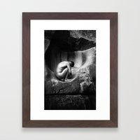 In Utero - Black and White Framed Art Print
