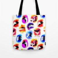 Watercolor Shadow Puppets Tote Bag