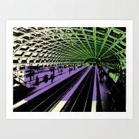 Washington DC Metro Art Print