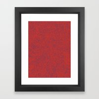 Abstract #002 Cells (Red… Framed Art Print