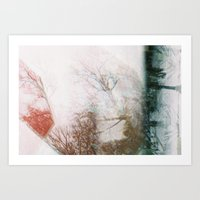 Abstract Winter Art Print