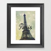 Paris Typography Eiffel … Framed Art Print