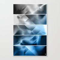 Midnight Satin (Five Pan… Canvas Print