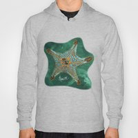 Starfish on Teal. Hoody
