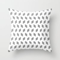 Rhombus Bomb In Alloy Throw Pillow