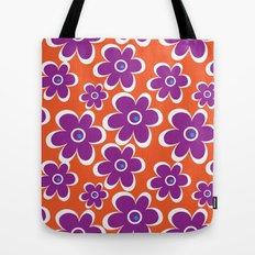 retro purple flower Tote Bag
