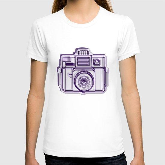 I Still Shoot Film Holga Logo - Reversed Deep Purple T-shirt