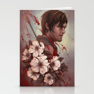 The Walking Daryl Stationery Cards