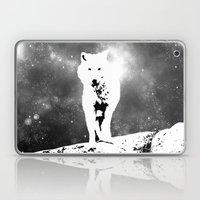 Walking on the moon Wolf Laptop & iPad Skin