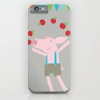 iPhone & iPod Case featuring little pigs like apples by PinkNounou