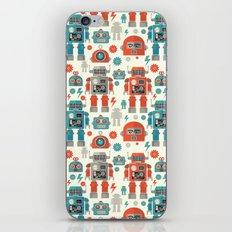 Retro Space Robot Seamless Pattern iPhone & iPod Skin