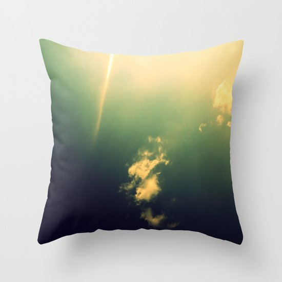 And a Lone Ray Shone Down Throw Pillow