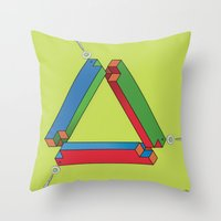 IMPOSSIBLE TRIBAR Throw Pillow