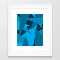 Triangles Framed Art Print