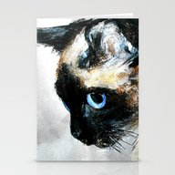Siamese Cat Unedited Stationery Cards