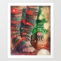Holiday Greetings  Art Print