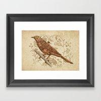 Steampunk Songbird  Framed Art Print
