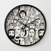 Faces in the Tube Wall Clock
