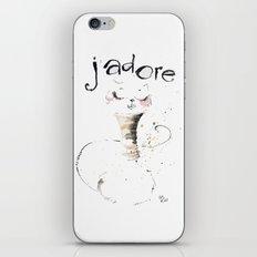 J`adore Cat iPhone & iPod Skin