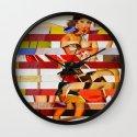 Glitch Pin-Up: Emma Wall Clock