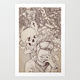 Art Print - Self Destructive Personality - hatrobot