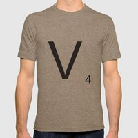 Scrabble V Mens Fitted Tee Tri-Coffee SMALL
