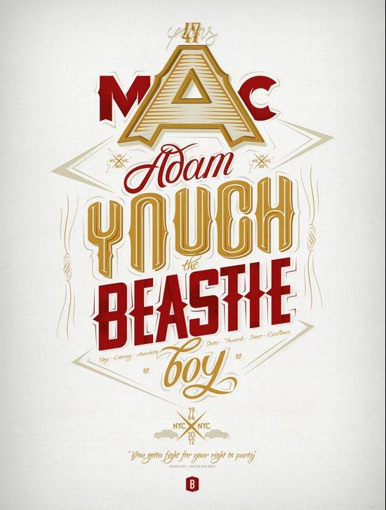 ∞ Adam Yauch • No way! I'm a Beastie Boy ∞ Art Print