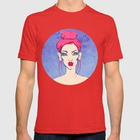 Selfie girl_3 Mens Fitted Tee Red SMALL