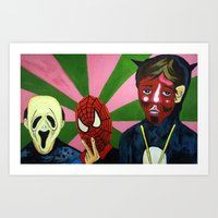 Spiderman, The Devil And… Art Print