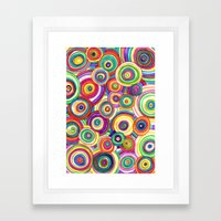 uneven universe Framed Art Print