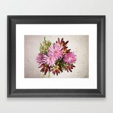 Birthday flowers Framed Art Print