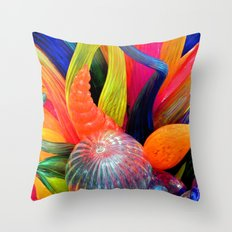 Rainbow of colors Throw Pillow