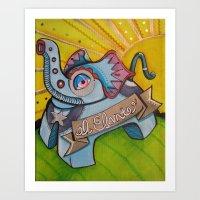 El Efante Art Print