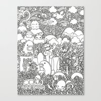 Oodles Of Doodles Of Sin… Canvas Print