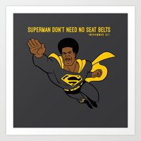 Superman Man Art Print