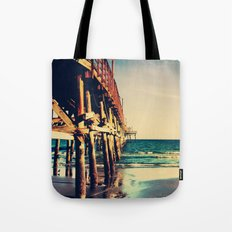 Cherry Grove SC Fishing Pier Tote Bag
