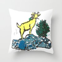 Goatie McGoatersons (col… Throw Pillow