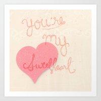 Sweetheart // overlay Art Print