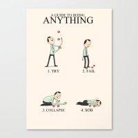 Inspirational Words Canvas Print