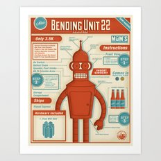 Bending Unit 22 Art Print