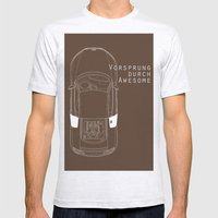 Vorsprung Durch Awesome Mens Fitted Tee Ash Grey SMALL