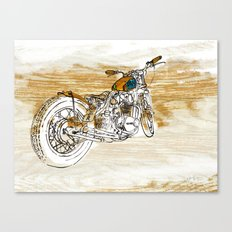 Rootbeer Bobber Motorcyc… Canvas Print
