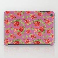 Rose pattern- pink iPad Case