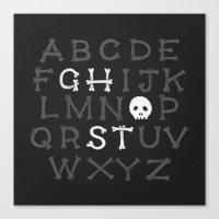 Somethin' strange in your alphabet Canvas Print